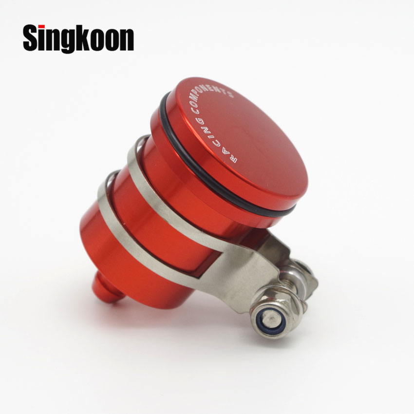 CNC Alumium Motorcycle Brake Fluid Reservoir Oil Cup FOR <font><b>SUZUKI</b></font> <font><b>GSXR</b></font> <font><b>1100</b></font> GSX-R1100 1989 1990 1991 1992-2016 image