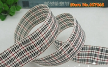 1″ 25mm Tartan Plaid Ribbon Bows Appliques Sewing Crafts 50Y/lot