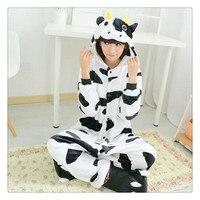 cow Animal Sleepwear Unisex Adult Onesie Pajamas Zebra Cosplay Costume Pajama onesies for adults jumpsuit pajama suit Flannel