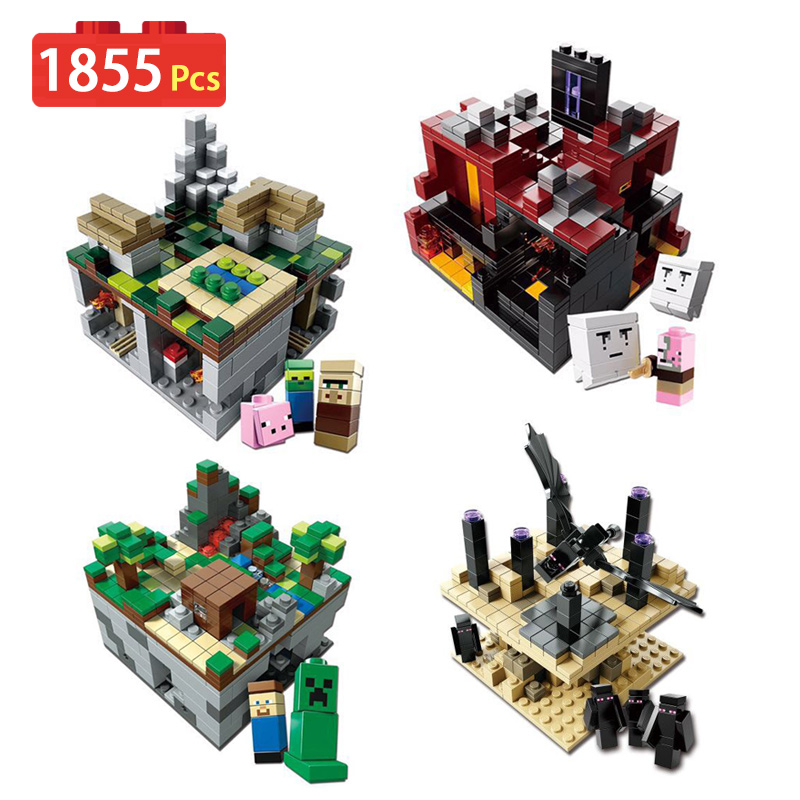 Minecrafter Series Building Blocks Compatible LegoINGs My World Educational Nether field Construction Toy For Children bricks 400 pcs micro my world building blocks diy nether bricks blocks enlightentoys for kids compatible legoingly minecraft village