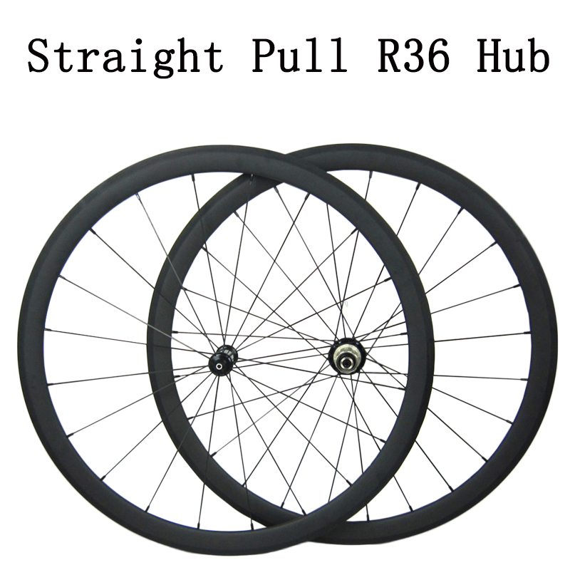 700c Clincher Tubular Carbon Straight Pull R36 Wheels 38mm Bicycle Wheelset Carbon Racing Road Bike Wheels фото