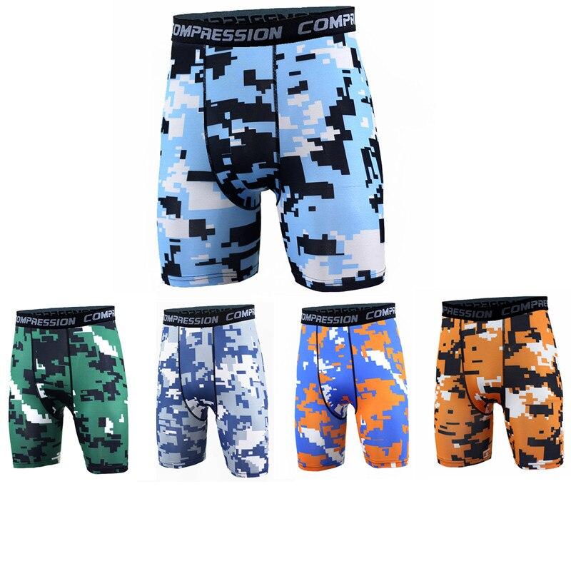 2019 Hot Sale Camouflage Compression Shorts Men's Bodybuilding Slim Short Sweatpants Running Training Fashion Tight Shorts