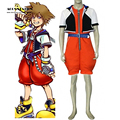 New Fashion Kingdom Hearts Sora Cosplay Costume  For Halloween Costume For Kid and Adult