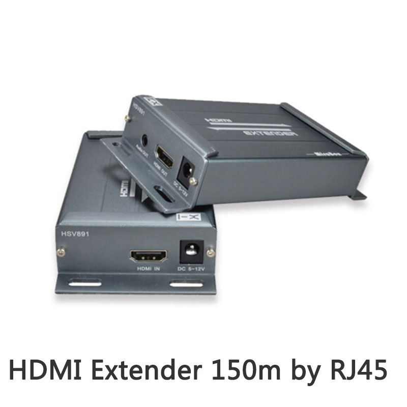 HDMI Extender over TCP/IP with Audio Extractor work like HDMI splitter support 1080p HDMI extender via Rj45 150M-in Computer Cables & Connectors from Computer & Office