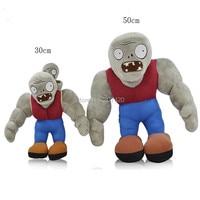 30cm 50cm Big Size Plants VS Zombies Plush Toy Doll Gargantuar Zombie PVZ Plush Stuffed Doll