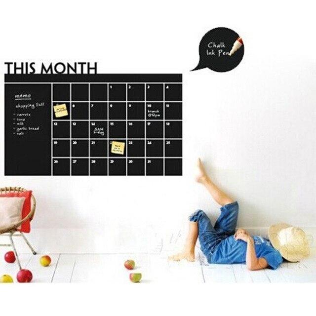 Новый Творческий СДЕЛАЙ САМ Наклейки Blackboard Дети Месячный План Классические Игрушки Для Ребенка Украшения Наклейки Дети Творческие Подарки На День Рождения