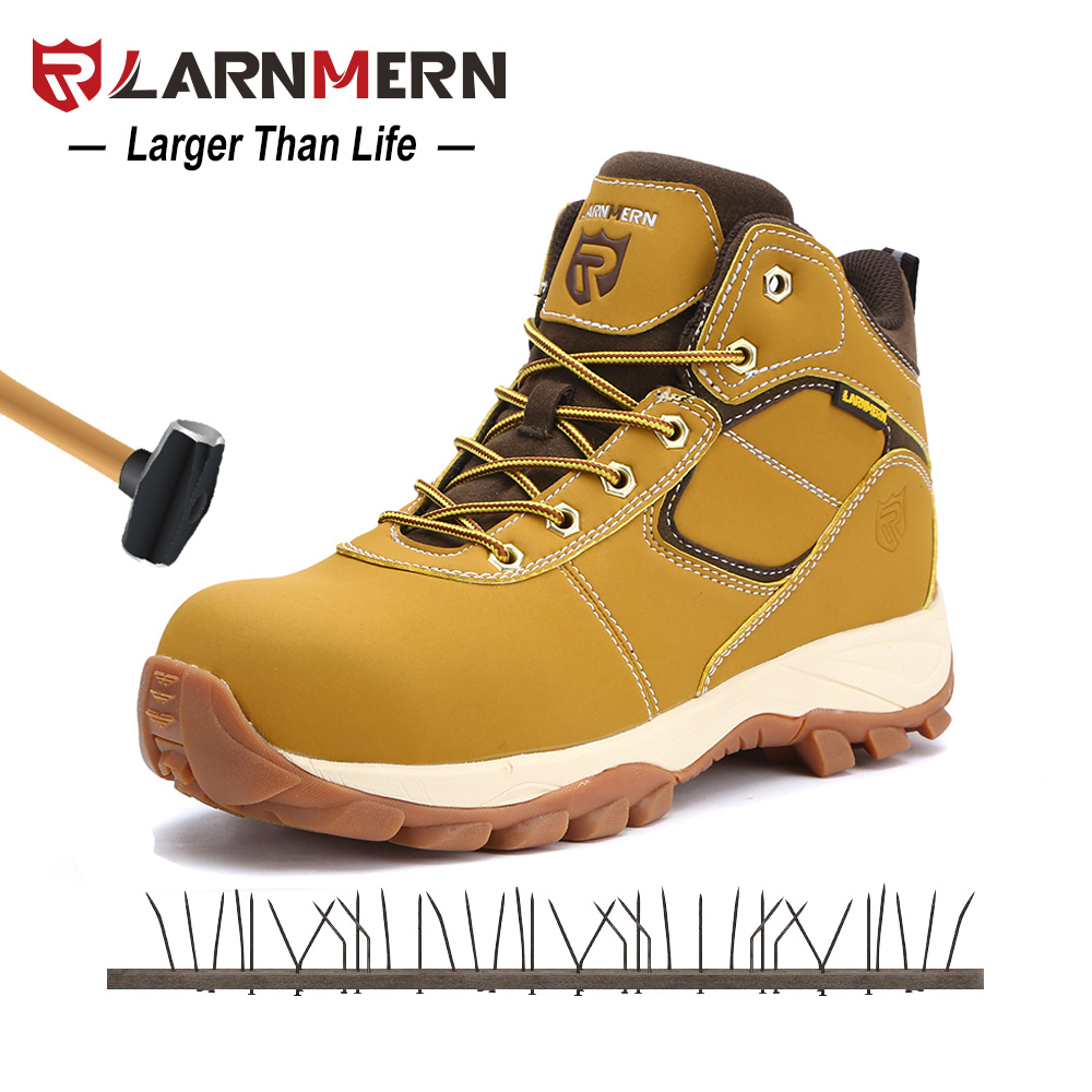 Hommes Le Larnmern Anti Baskets protection De Hydrofuge Extérieur Bottes Acier Glissement Yellow Contre Bout smash En Anti gray Sécurité Travail Srb Chaussures Tdr0qd