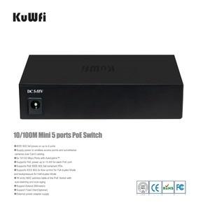 Image 2 - 10/100 mbps ネットワーク 5/6 ポートスイッチ 802.3af スイッチ 4 poe ポートと 1 アップリンクとイーサネットを拡張サポート 250 メートル 48 v