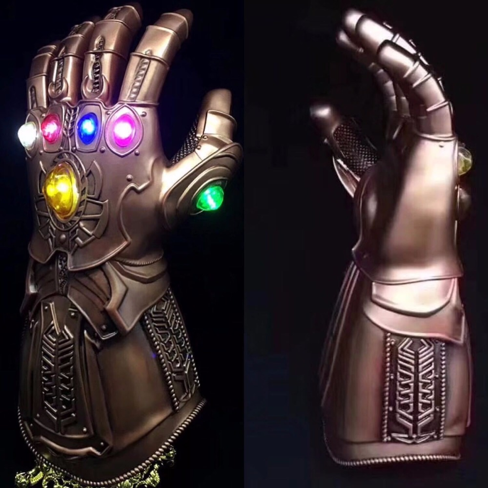 Thanos Infinity Gauntlet Avengers Infinity War 1:1 Gleamy Gloves Cosplay Superhero Avengers Thanos Glove Halloween Party Props