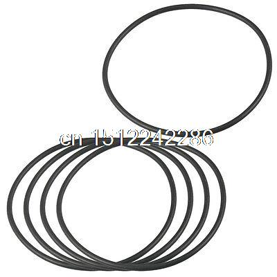 80mm X 2 4mm Flexible Rubber O Ring Sealing Washer Black 5 Pcs In