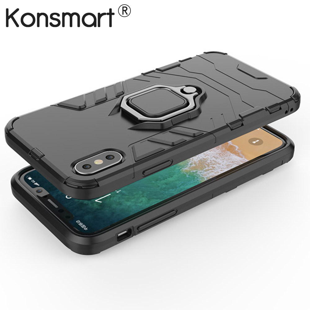 online retailer 41905 c9205 New Case For Xiaomi Redmi Note 5 Pro Global Version Armor Hard Back Cover  For iPhone X XS Max XR 7 8 6 6S Plus Stand Phone Cases
