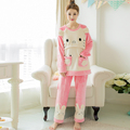 New Winter Maternity clothes nursing pajama Postpartum coral velvet cashmere on thickening flannel nursing maternity pajamas
