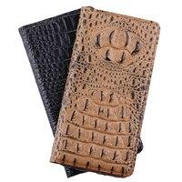 High Quality Cover For Nokia Lumia 730 735 N730 N735 Top Genuine Leather 3D Crocodile Grain