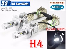 1 Set 50W 8000LM 5S LED Headlight H1 H3 H4 H7 H8 H9 H11 9005 9006 9012 H13 9004 9007 Fanless LUXEON ZES Chips White 6500K Lamps цена