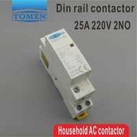 CT1 Американская классификация проводов 2р 25A 220 V/230 V 50/60 HZ Din rail бытовой ac Контактор В соответствии с стандартом 2NO