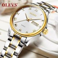 OLEVS Moda Mulheres Relógios Luminosos Relógios de Pulso Pulseira de Aço Inoxidável Top de Luxo Da Marca Das Senhoras Vestido de Relógio De Quartzo 2018