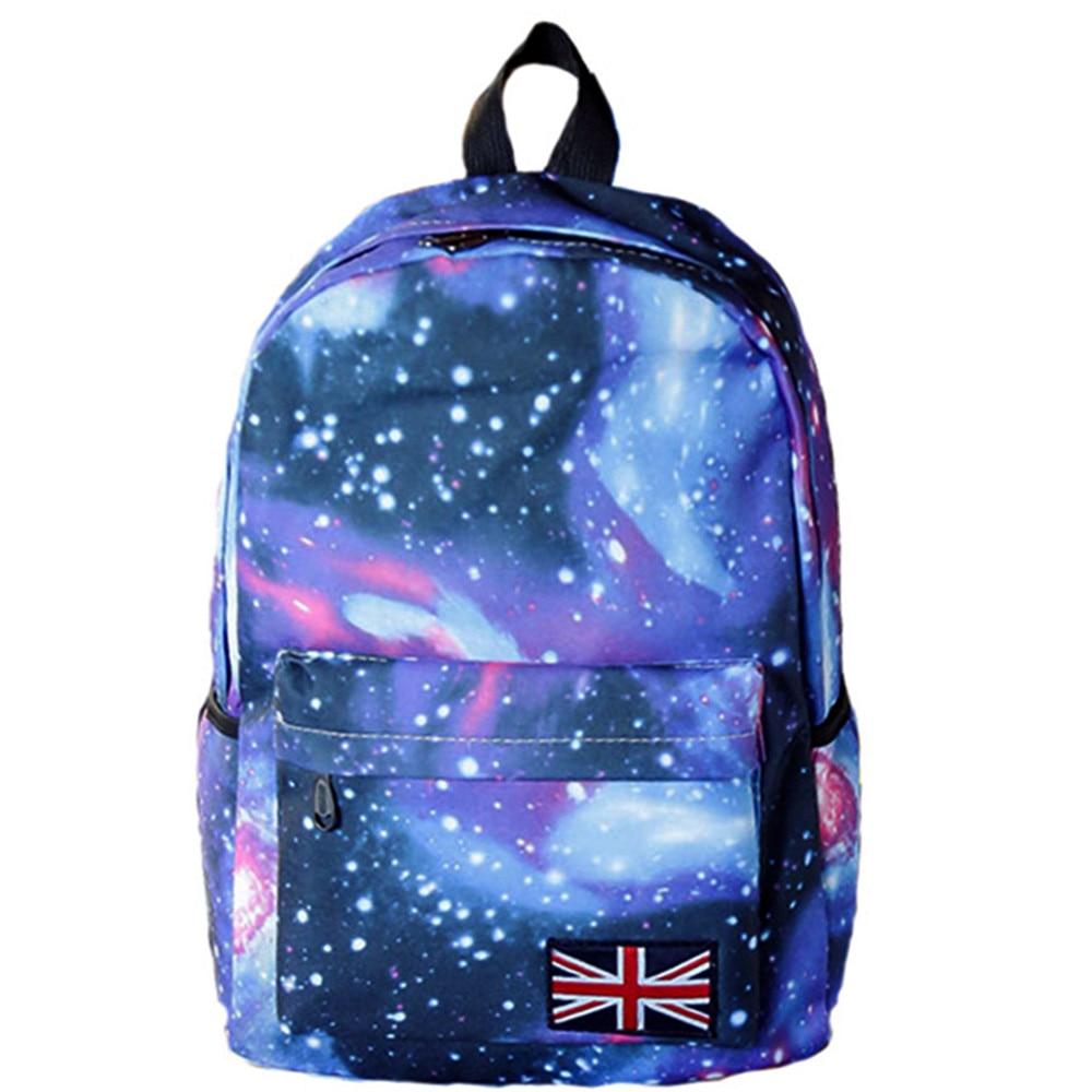 Nueva moda escuela mochila para niñas Galaxy impresión bolsas de viaje de gran capacidad viaje escuela niñas niños College Bookbag