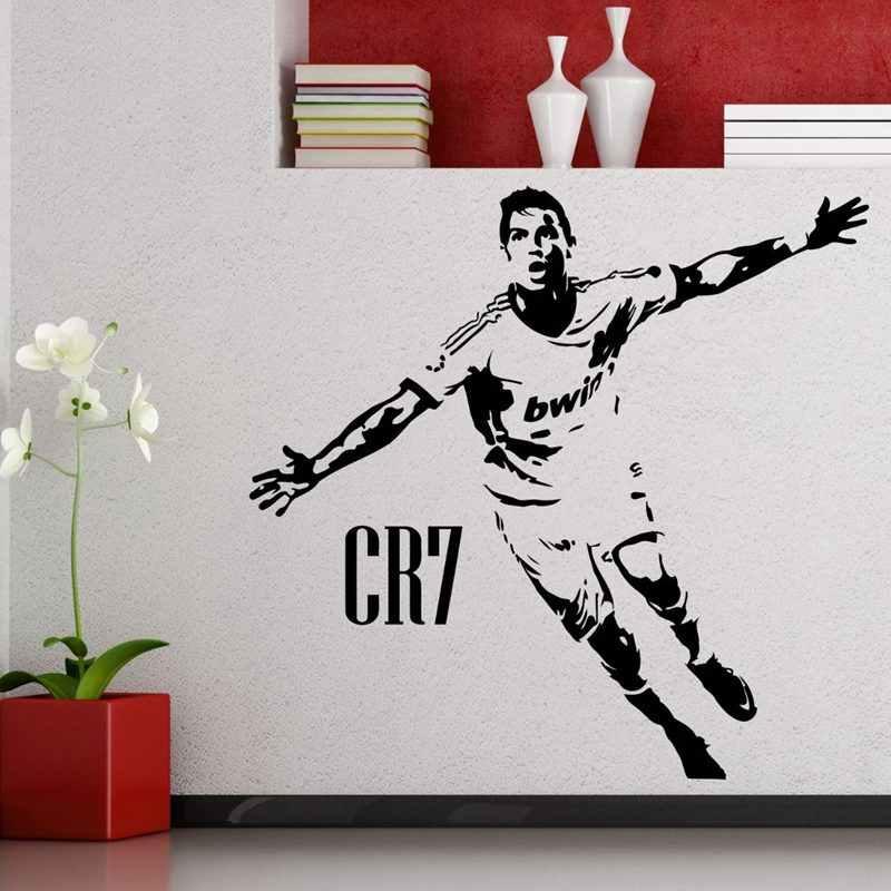 Cristiano Ronaldo Football joueur autocollant sport décor casques enfants chambre décoration affiches vinyle Football voiture décalcomanie stickers muraux
