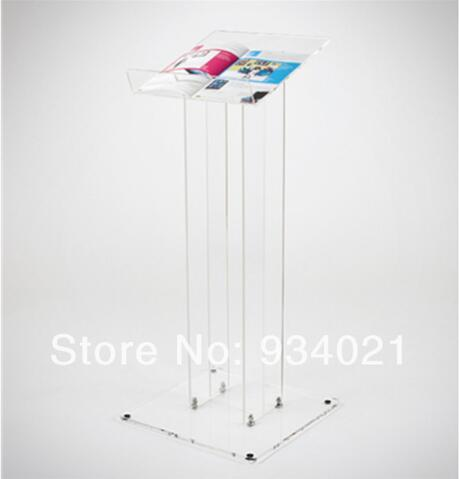 Wholesale Clear Acrylic Podium Acrylic Tabletop Lectern Plexiglass Pulpit Lectern Eco-friend Acrylic Podium Pulpit Lectern