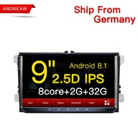 Android 8.1 2G RAM/32G 9 Car Multimedia player GPS Navigation 2.5D IPS For Volkswagen/ Passat/POLO/GOLF/Seat/Leon