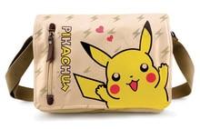 Pocket Monster Pokmon Pikachu Canvas Single Shoulder Satchel Bags