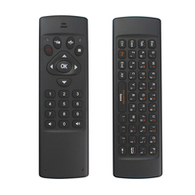 Wholesale Gyroscope Fly Air Mouse 2.4GHz Wireless Mini Keyboard Combo Remote Control for Android TV Box Mini PC Projector Raspberry Pi 3