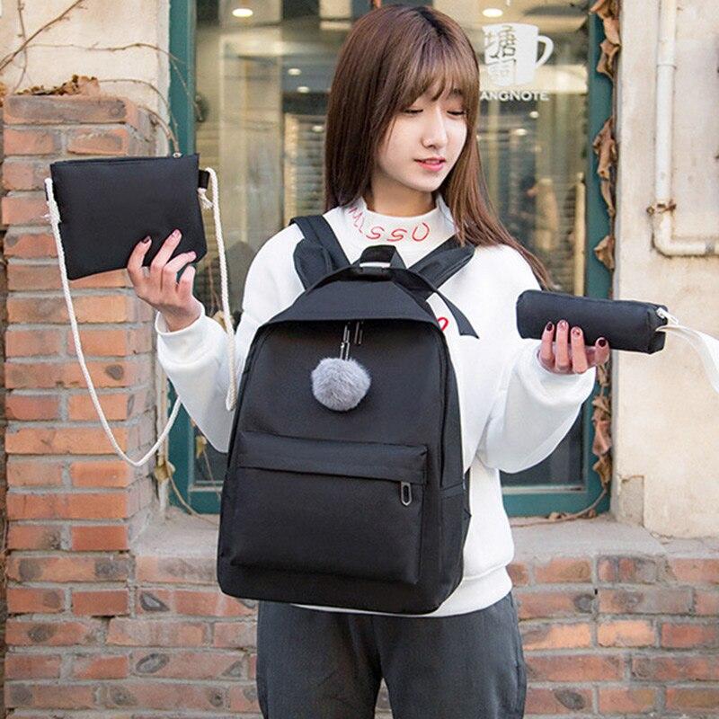Women Canvas Backpack School Teenagers Girls Bookbag Rucksack with Shoulder Bag LXX9Women Canvas Backpack School Teenagers Girls Bookbag Rucksack with Shoulder Bag LXX9