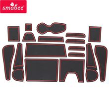 smabee Gate slot pad For Chevrolet AU holden COLORADO 2012-2017 LT LTZ Interior Door Pad/Cup Non-slip mats red/blue/white 17pcs