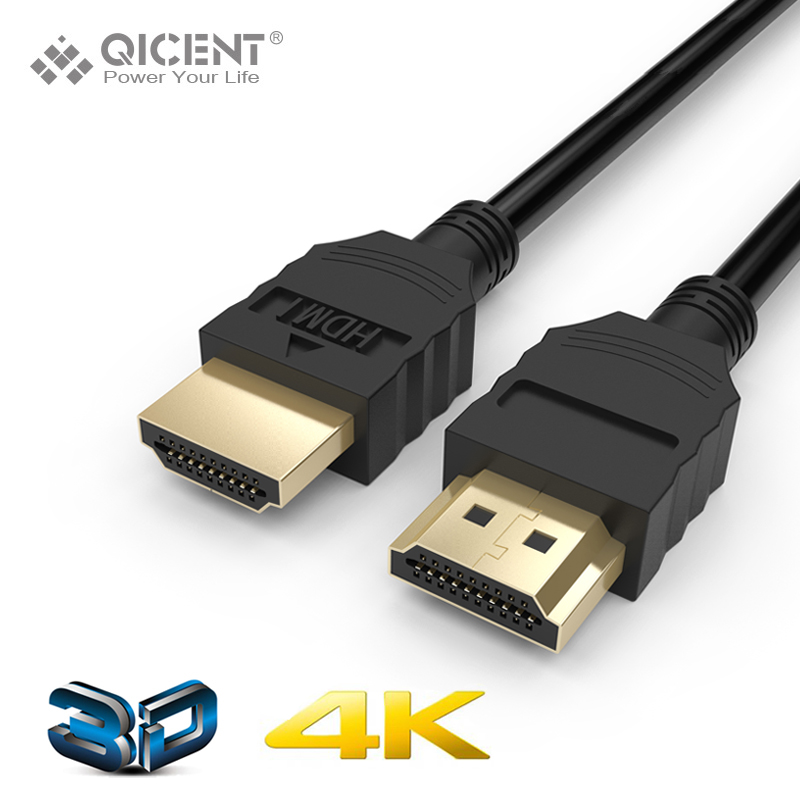 HDMI Cable, QICENT 6.5ft Extremely Durable High-Speed HDMI HDTV Cable - Supports Ethernet, 3D, 4K and Audio Return(HTH4)