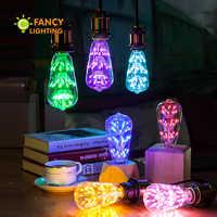 Lámpara Led ST64 8 colores cielo estrellado lámpara E27 110V 220V bombilla Led decorativa 3W lámpara led para regalo hogar/sala de estar/dormitorio