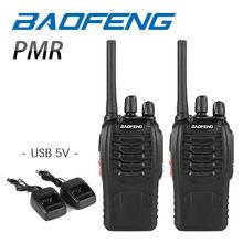 2 STKS Baofeng BF-88E PMR Walkie Talkie 0.5 W UHF 446 MHz 16 CH Handheld Ham twee-weg Radio met USB Charger voor EU Gebruiker
