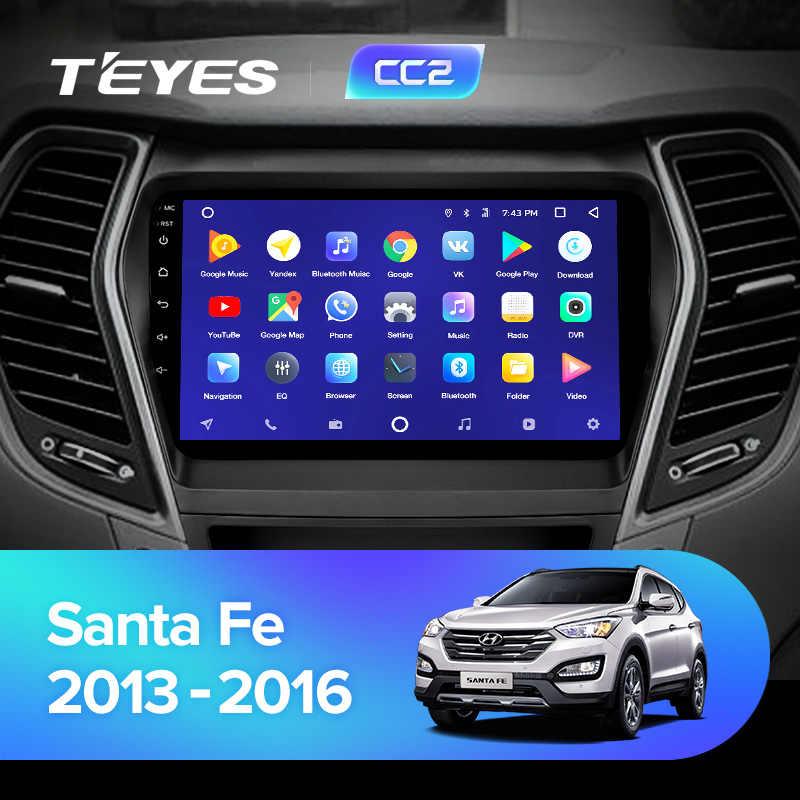 TEYES CC2 Auto Radio Multimedia android Video Speler Navigatie GPS Voor Hyundai Santa Fe 3 Grote 2013 2014 2015 2016 2017