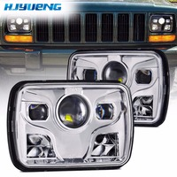 7inch For Jeep Wrangler 5 X 7 Square LED Headlights Projector With High Low Beam DRL