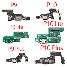 1pcs New USB Charging For Huawei P9 lite P10 lite P9 Plus P10 Plus Charger Port Dock Connector Flex Cable with Microphone Board