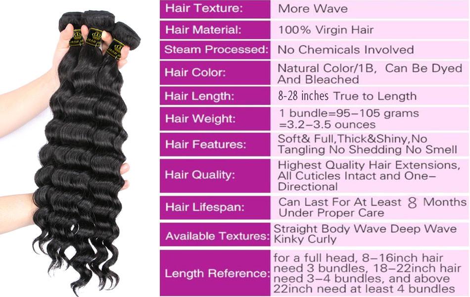 Brazilian Loose Deep Human Hair 3 Bundles Lot Brazilian Loose Deep Wave Virgin Hair Weaves Grade 8A Stema Hair Product More Wavy (2)