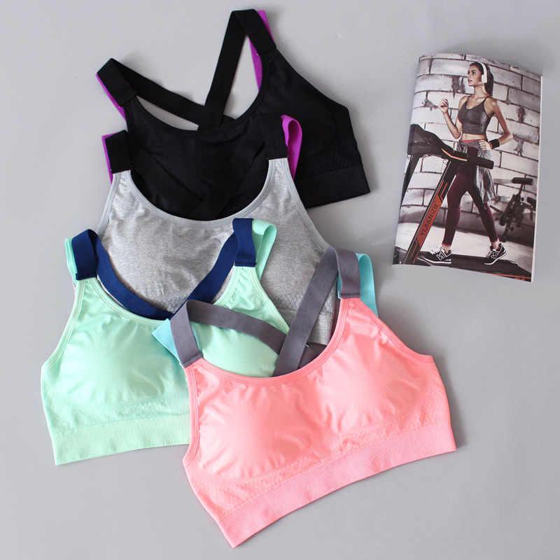 b0075501c ... SEXYWG Woman Yoga Sports Bra Push Up Running Sport T-shirt Gym Shirt  Top Fitness ...