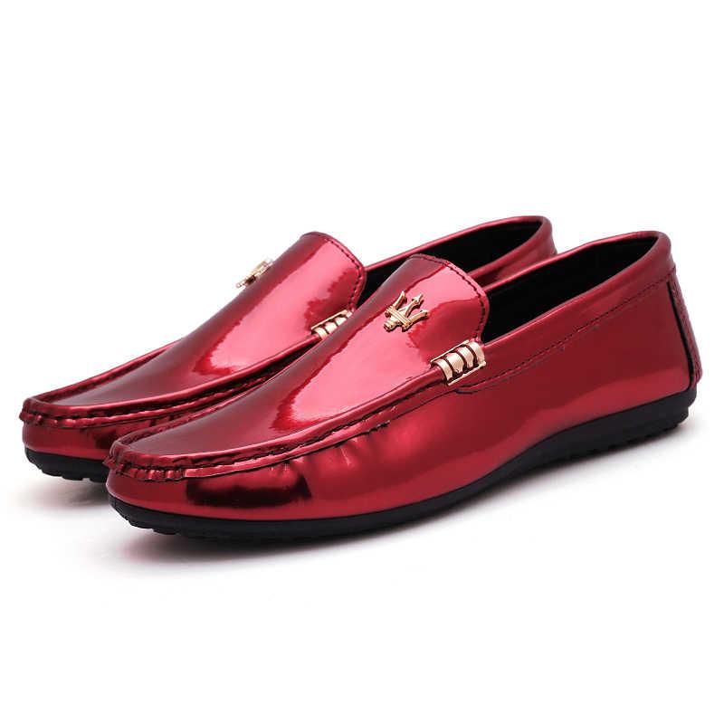 Sıcak yaz 2019 ayakkabı erkek mokasen ayakkabıları erkek mokasen rahat deri ayakkabı kaymaz nefes ışık Chaussure Homme Zapatos