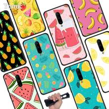 Summer fruit pineapple lemon cool Black Soft Case for Oneplus 7 Pro 7 6T 6 Silicone TPU Phone Cases Cover Coque Shell