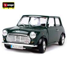 1:24 Diecast Model Car 1969 MINI COOPER Classic Car Vehicle Play Model Sport Car For Kids Gift Toys Free Shipping(China)
