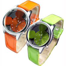 Adorable Design Candy Color Cute Girls Quartz Mickey Wrist Watch High Quality 5HFW
