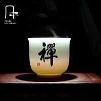Budista Zen Xícara de Porcelana Xícara De Chá Em Cerâmica copo de Vinho Copos de Cerveja Alimentos Seguros e Chumbo Copos Tea Set Coffee & Tea Sets kung fu
