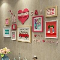 Творческий Настенные фоторамка для фото современный минималистский настенный фоторамка украшения ремесла свадебные украшения дома мебел
