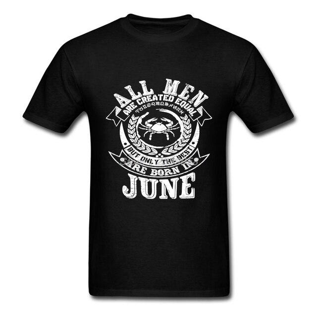 Hot Men T Shirt Cancer Zodiac Customized Birthday Gift Tees Short Sleeve Adult Clothing