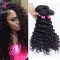 Ms Gato Cabelo onda profunda brasileira 4 pacotes 7a não processado virgem cabelo rainha tecer beleza ltd cabelo virgem barato bom tecer em venda