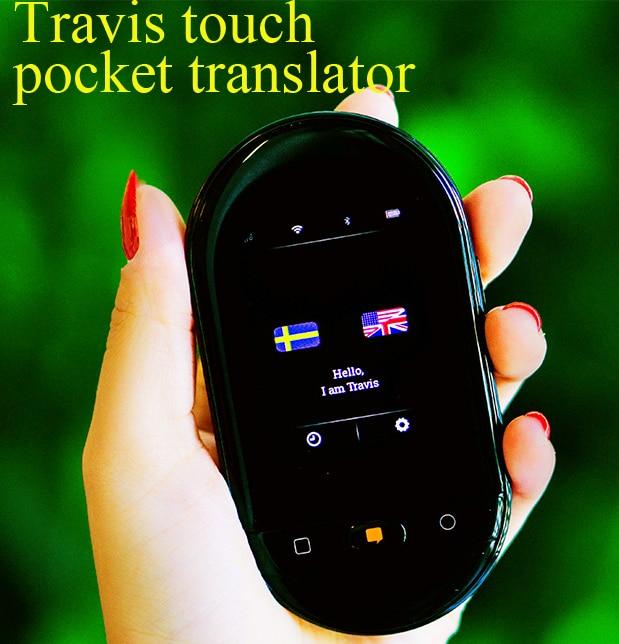 Travis Touch двусторонний карманный переводчик голосовой переводчик 105 язык переводчик Онлайн автономный мгновенный перевод