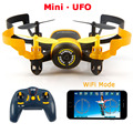 JXD 512 W JXD512W 2.4 Ghz WiFi FPV UFO Mini One-Key-retorno & Modo Headless Quadcopter RC com 0.3MP HD Camera RTF
