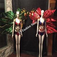 MD06 леди этап модель бюстгальтера Одежда для сцены свет костюмы поставку партии бальных танцев женщин сексуальная одежда DJ Бар платье Красо...