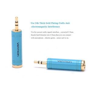 Vention 3,5 мм штекер 6,5 мм Женский адаптер 3,5 штекер 6,35 Джек стерео динамик аудио адаптер конвертер для мобильного телефона ПК 1 шт