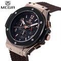 Megir relojes hombre 2017 mens con estilo militar del ejército oficial de goma calendario hombres reloj deportivo de lujo reloj militar soldado