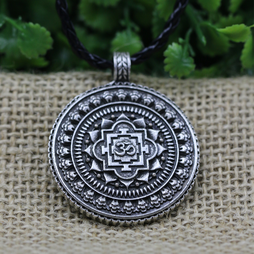 cubic aum jewelry necklace medallion spiritual open circle bling om zirconia journey clear pendant my